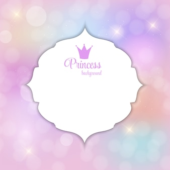 Princess crown sfondo illustrazione vettoriale.