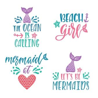 Prinset di citazioni disegnate a mano sulle sirene.
