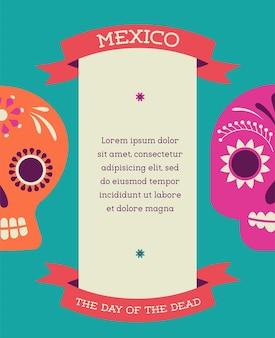 Stampa teschio messicano giorno dei morti
