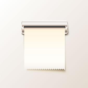 Stampa la ricevuta in contanti su sfondo bianco. illustrazione vettoriale