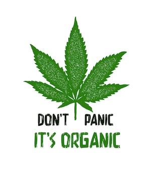 Stampa con marijuana per l'illustrazione della maglietta