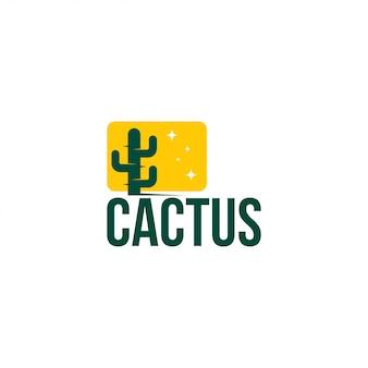 Modello di vettore di logo printcactus