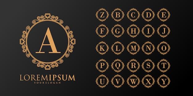 Printelegant set font monogram logo collection