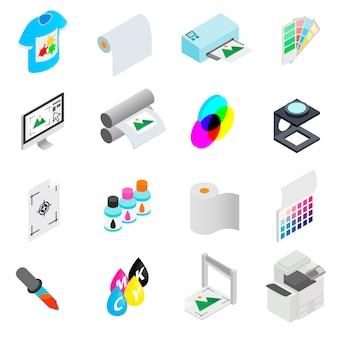 Stampare le icone impostate