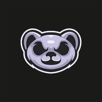 Printkoala testa di animale fumetto logo modello illustrazione esport logo gioco premium vector
