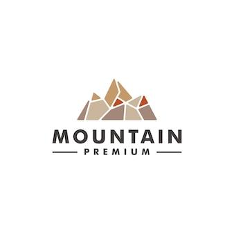 Printmountain pietra logo design icona illustrazione vettoriale