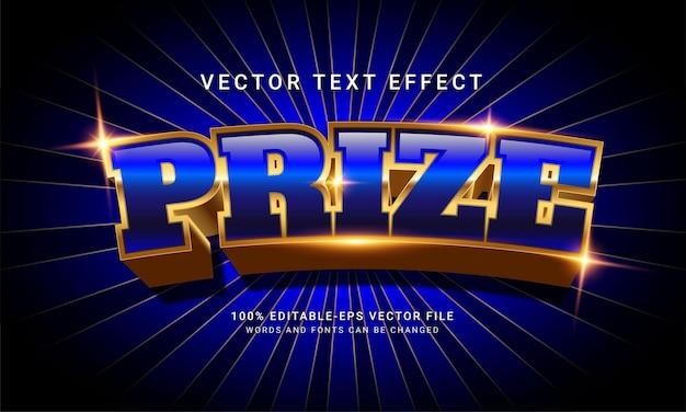Premio effetto stile testo modificabile 3d con moderno concetto blu