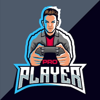 Design del logo del gioco esport pro player