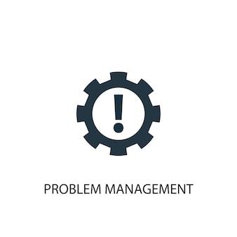 Icona di gestione dei problemi. illustrazione semplice dell'elemento. disegno di simbolo del concetto di gestione dei problemi. può essere utilizzato per web e mobile.