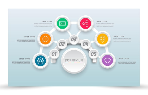 Elabora lo stile del modello di infografica