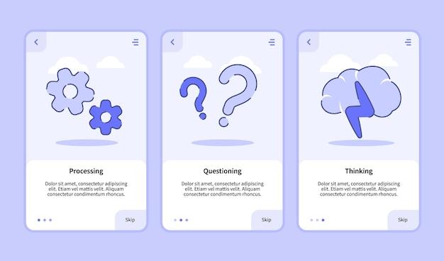 Elaborazione della schermata di inserimento del pensiero interrogativo