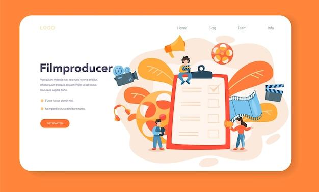 Banner web o pagina di destinazione del produttore