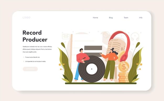Banner web del produttore o pagina di destinazione
