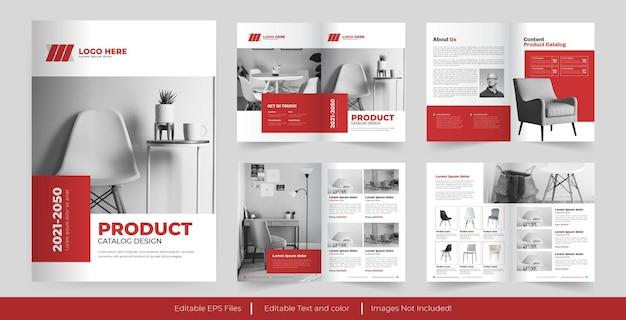 Catalogo dei prodotti e design del modello del catalogo