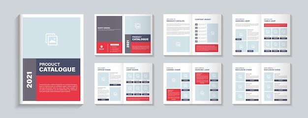 Layout del modello di progettazione del catalogo dei prodotti o design del modello del catalogo dei prodotti minimo
