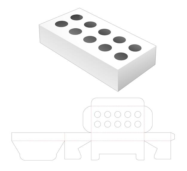 Modello fustellato della scatola di visualizzazione del prodotto