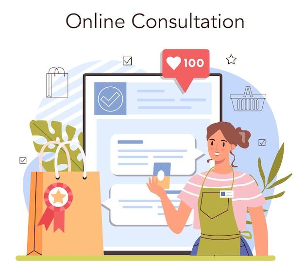 Presentazione del prodotto servizio online o presentazione dell'imprenditore della piattaforma
