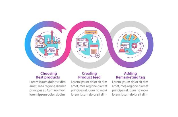 Modello di infografica di promozione del prodotto