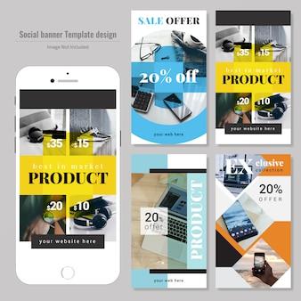 Modello di vendita di media sociali di vendita del prodotto