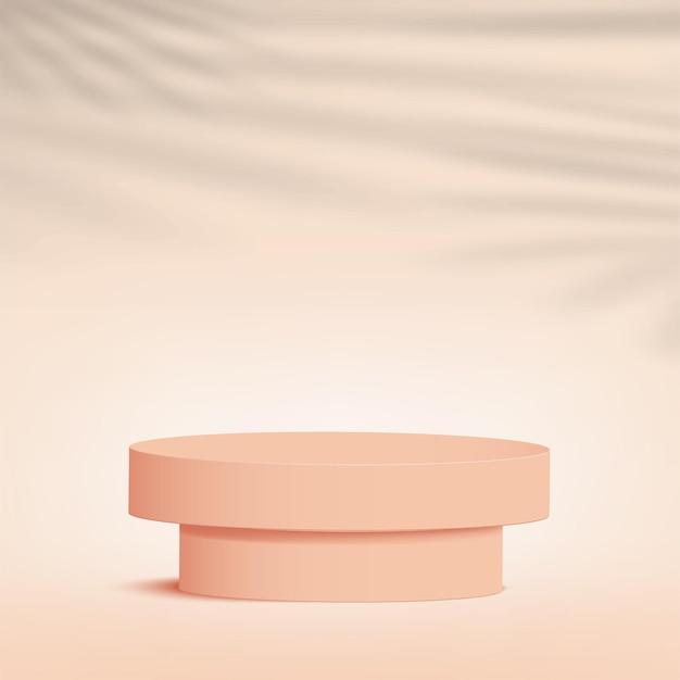 I prodotti mostrano una scena del podio di sfondo 3d con piattaforma geometrica a forma di crema. illustrazione vettoriale.