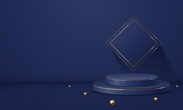 I prodotti visualizzano la scena del podio di sfondo 3d