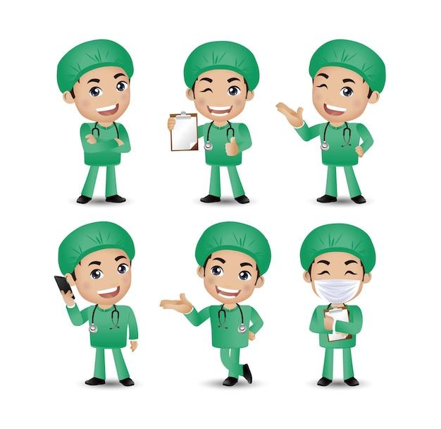Professione: medico con pose diverse