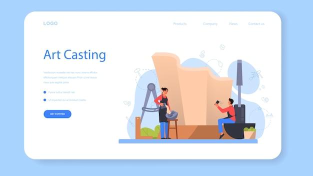 Banner web o pagina di destinazione del casting artistico professionale