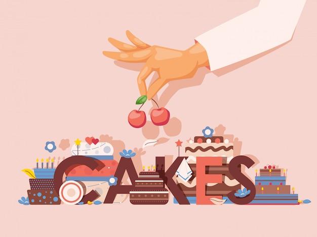 Presentazione professionale di prodotti da forno, copertina del libro di ricette di cottura, pubblicità di classe culinaria,