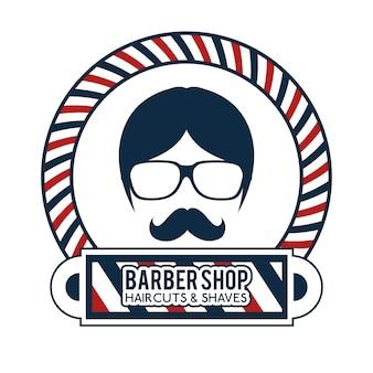 Icona del negozio di barbiere professionista