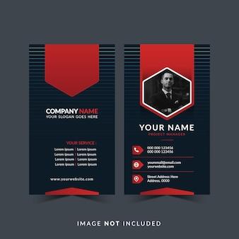 Biglietto da visita professionale in colore rosso e scuro