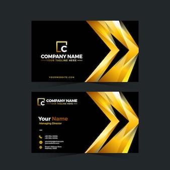 Design professionale per biglietti da visita in colore oro
