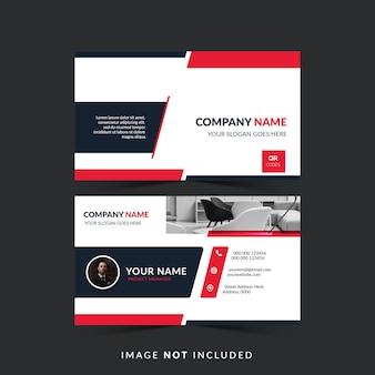 Design professionale biglietto da visita in colore rosso