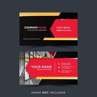 Design professionale per biglietti da visita in colore rosso e scuro