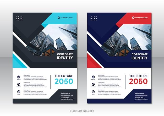 Modello di sfondo di progettazione brochure aziendale aziendale professionale