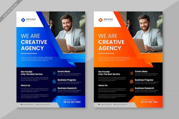 Insieme di modelli di business professionale flyer