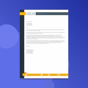 Modello di progettazione di carta intestata di affari professionali