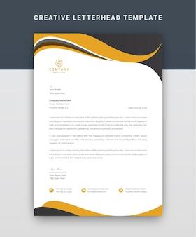 Modello professionale di carta intestata aziendale
