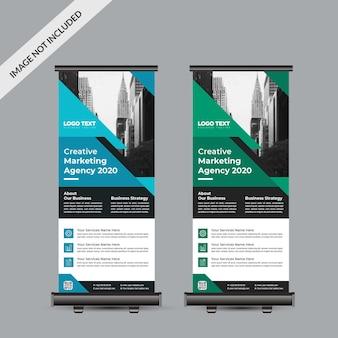 Modello di banner roll up aziendale professionale
