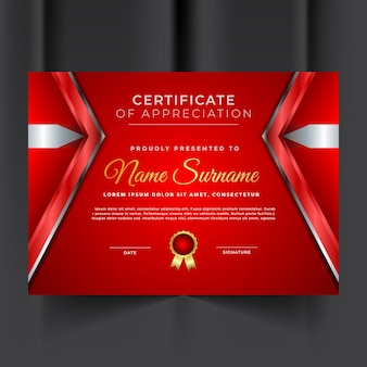 Modello di certificato professionale di apprezzamento