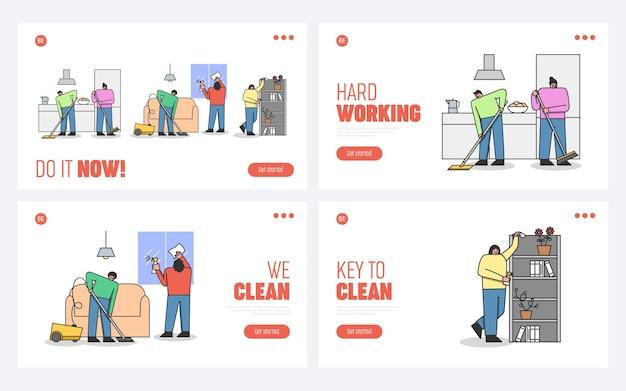 Concetto di servizio di pulizia professionale