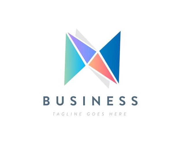 Design del logo aziendale professionale o logo della lettera n