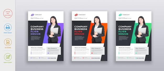 Modello di progettazione volantino aziendale aziendale moderna professionale