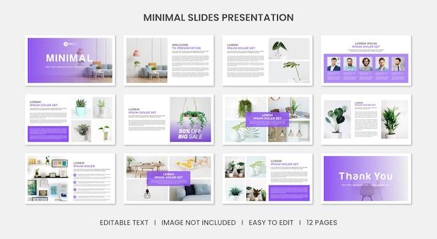 Modello di diapositiva di presentazione aziendale professionale