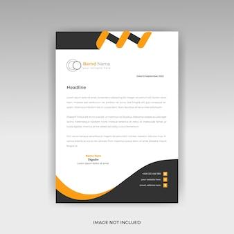 Modello di carta intestata creativa professionale o modello di carta intestata