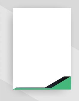 Modello di carta intestata creativa professionale su sfondo trasparente