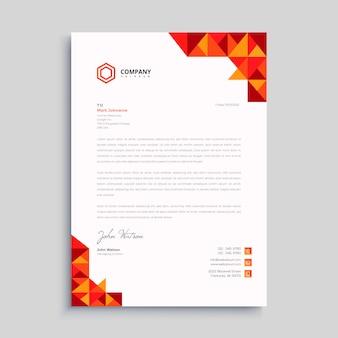 Carta intestata creativa professionale