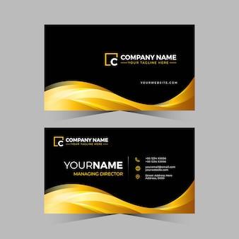 Biglietto da visita di design professionale in colore dorato