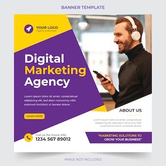 Agenzia di affari digitali professionale che commercializza post sui social media e progettazione di modelli di banner