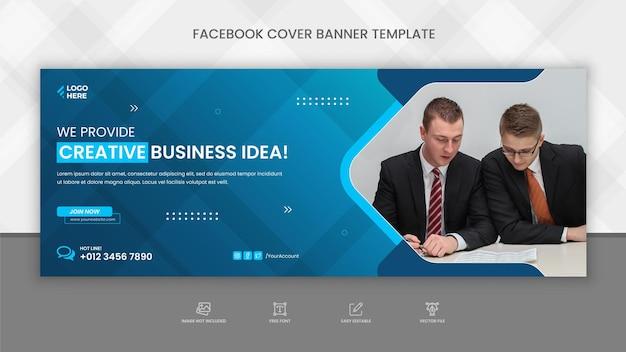 Modello di banner copertina facebook di agenzia di marketing digitale professionale