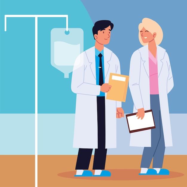 Medici professionisti che sorridono